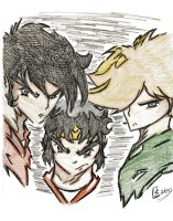 Ronin Warriors: Ryo, Sage, Kento by Tazartist19