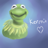 Kermit The Frog Doodle by FeatheredSoap