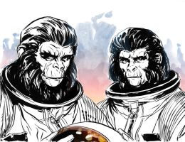 Planet Pulp goes Ape by MarcLaming