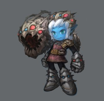 League of Legends---Tristana with Kog'Maw skin by TEnmoom