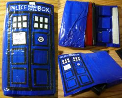 Duct Tape TARDIS DS Case by Nikiette