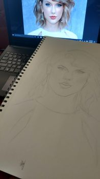 Taylor Swift sketch by AndyVRenditions