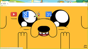 Adventure time theme for google chrome ~ by JuleneRumbo