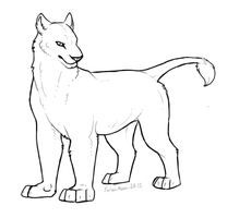 Free Feral Lion Template / Lineart by FerianMoon