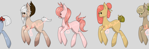 Japanese Tea Time Sweets Ponies Adoptables(open) by yumehari