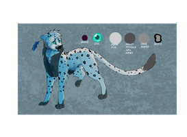 Closed~Adoptables auction-snow leopard by Dyaniart