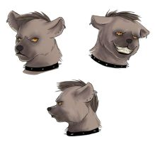Faces of a Hyena by NeuroticCrow