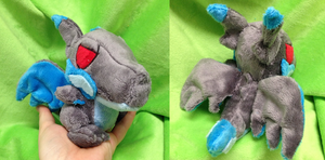 Mega Charizard X Palm Plush by Glacdeas