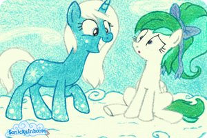 First Snowflake and Lil Swirl. by SonicRainboomZ