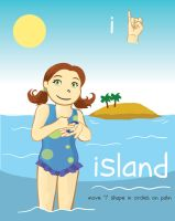 ASL Alphabet - I is for Island by TheDelphina