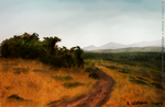 Speedpaint Landscape Salt Lake City by merrak