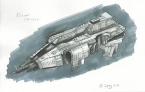 Escort Cruiser Concept Sketch by SARGY001