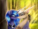 Together in the forest... by Lyra-senpai