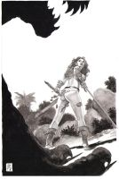 Red Sonja The She-Meal With a Sword by GeneEspy
