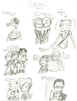 SKETCH REQUESTS: PART 1 by Scary-Scarecrow