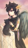 Dark Pit and the cat by NarutoxHinatafan