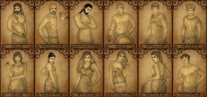 The Twelve Olympians by Meko2