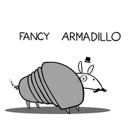 Fancy Armadillo by arseniic