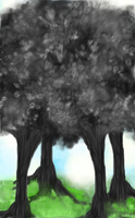 A small grove of black trees by 6gunSally