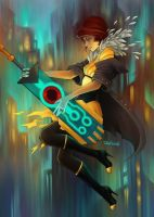 Transistor fan art by sashajoe