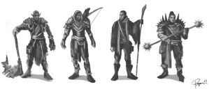 Rough character sketches (fantasy) by sfogato