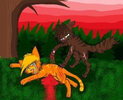 death of firestar by MaddieRoxurface