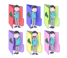 Osomatsu-san Folders for windows by nightfright9