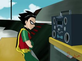 Robin boombox by kitkatnis