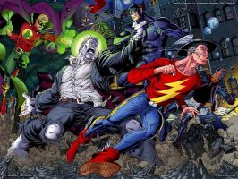 JSA vs Solomon Grundy by batwolverine