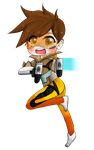 Overwatch:Tracer chibi key chain *For sale* by cutecat54546