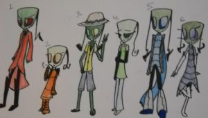 Color Themed Adoptables group 1 *Closed* by IrkenArtistKeizy
