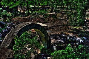 Bridge to Ruins by NullCoding