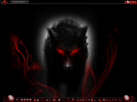 Awesome evil wolf by DarkAngel3466