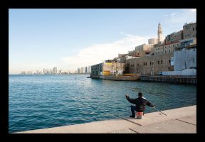 Old Jaffa - Fishing by thelizardking25