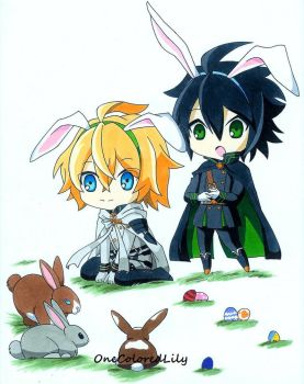 Easter 2016 -- Seraph of the End by OneColoredLily