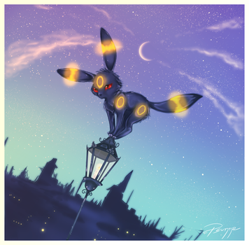 Midnight Umbreon by FinsterlichArt