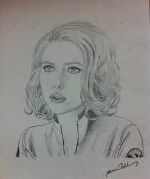 Scarlett Johansson- The Avengers by BesosDraws