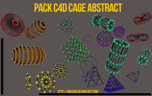 Pack C4D Cage Abstract by Aikos66