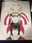 team 7 drawling by AnimeIsMySugar