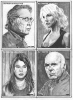 Galactica Sketch Cards 1 by RichardBurgess