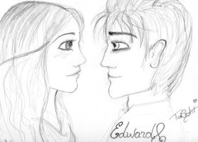 edward and bella by CheshireNene