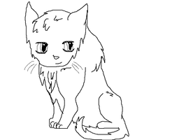 Kitty Sit Lineart by Smokestar11