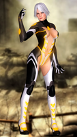 Christie(Sci-fi Assassin Bodysuit) DoA5 LR by XKammyX
