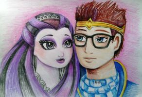 Dexter Charming and Raven Queen by Nastea-AnyMash