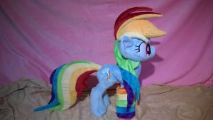 rainbow dash plush for sale by Zombies8MyWaffle