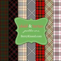 Background patterns: Plaid and houndstooth by BerryKissed