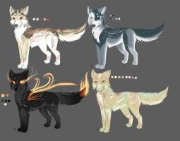 Wolf point adoptables auction(closed) by LiaBorderCollie