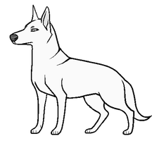 Free PAINT dog Lineart by Insol