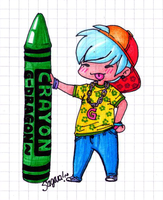 Crayon G Dragon - chibi by SwagSagwa