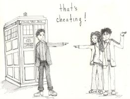 That's cheating: DW x HP by celina-tamwood